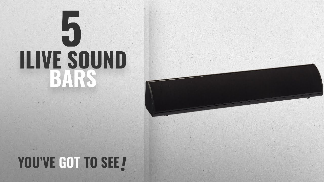 Top 5 Ilive Sound Bars 2018 Itb105b 20 Inch Compact Bar With Bluetooth 2 0