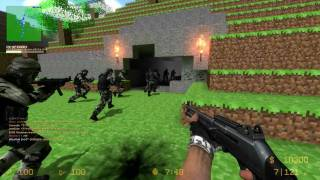Counter-Strike Source: Zombie Escape - ZE_MINECRAFT_V1_1 + 2 Funny fails [15Min] (1080p)