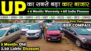यूपी का सबसे बड़ा कार बाजार   Second Hand Cars in Lucknow   Lucknow Car Bazar   Lucknow Ride