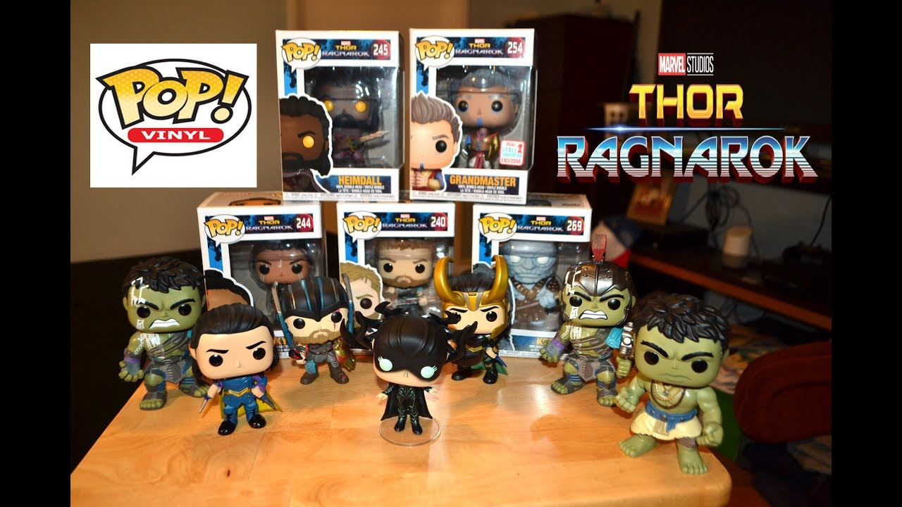 Thor Ragnarok Funko Pop Figure Collection Unboxing Review Youtube