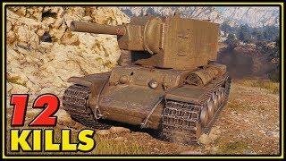 KV-2 - 12 Kills - World of Tanks Gameplay