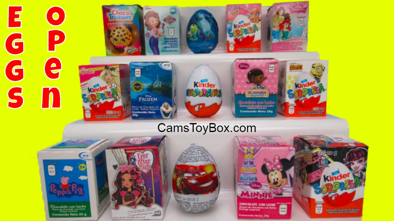 Chocolate Surprise Eggs Barbie Peppa Pig Kinder Disney Frozen Nina