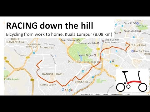 Racing fast down the hill on my bicycle commute @ Kuala Lumpur