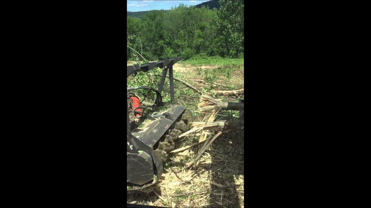 Kubota Svl 90 2 Destroys Tree Youtube