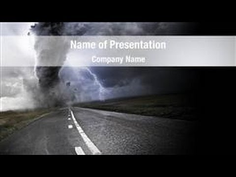 powerful tornado powerpoint template backgrounds, Modern powerpoint