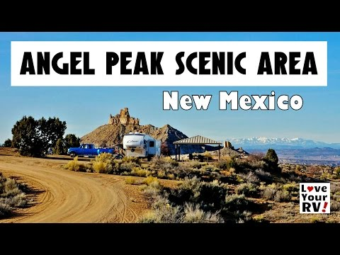 Camping and Hiking Angel Peak Scenic Area, New Mexico