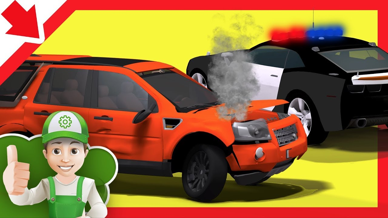 Carro Da Policia Desenho Animado Portugues Desenhos Policia