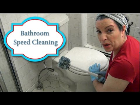 Bathroom Speed Cleaning