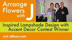 How to Make a Bear Grass and Orchid Lampshade Lamp!