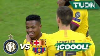 ¡Ansu Fati sepulta al Inter! | Inter de Milán 1 - 2 FC Barcelona | Champions League J6 Grupo F| TUDN