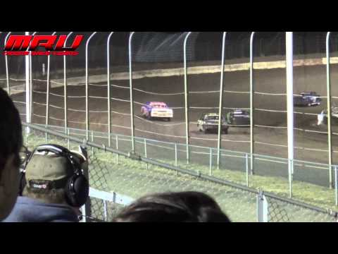Hobby Stock A Main at The Bug Eater Bash at I-80 Speedway on April 11th