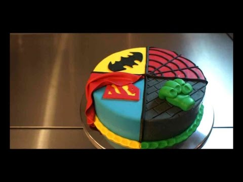 Superhelden Torte 4 In 1 Superhero Torten Tutorial Kuchenfee
