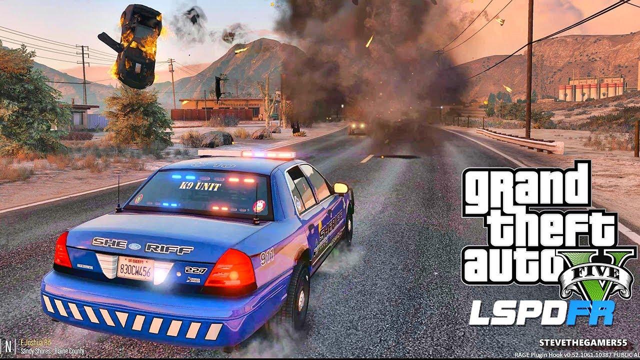 LSPDFR #545 SHERIFF K9!! (GTA 5 REAL LIFE POLICE PC MOD) SINGLE PLAYER #600K