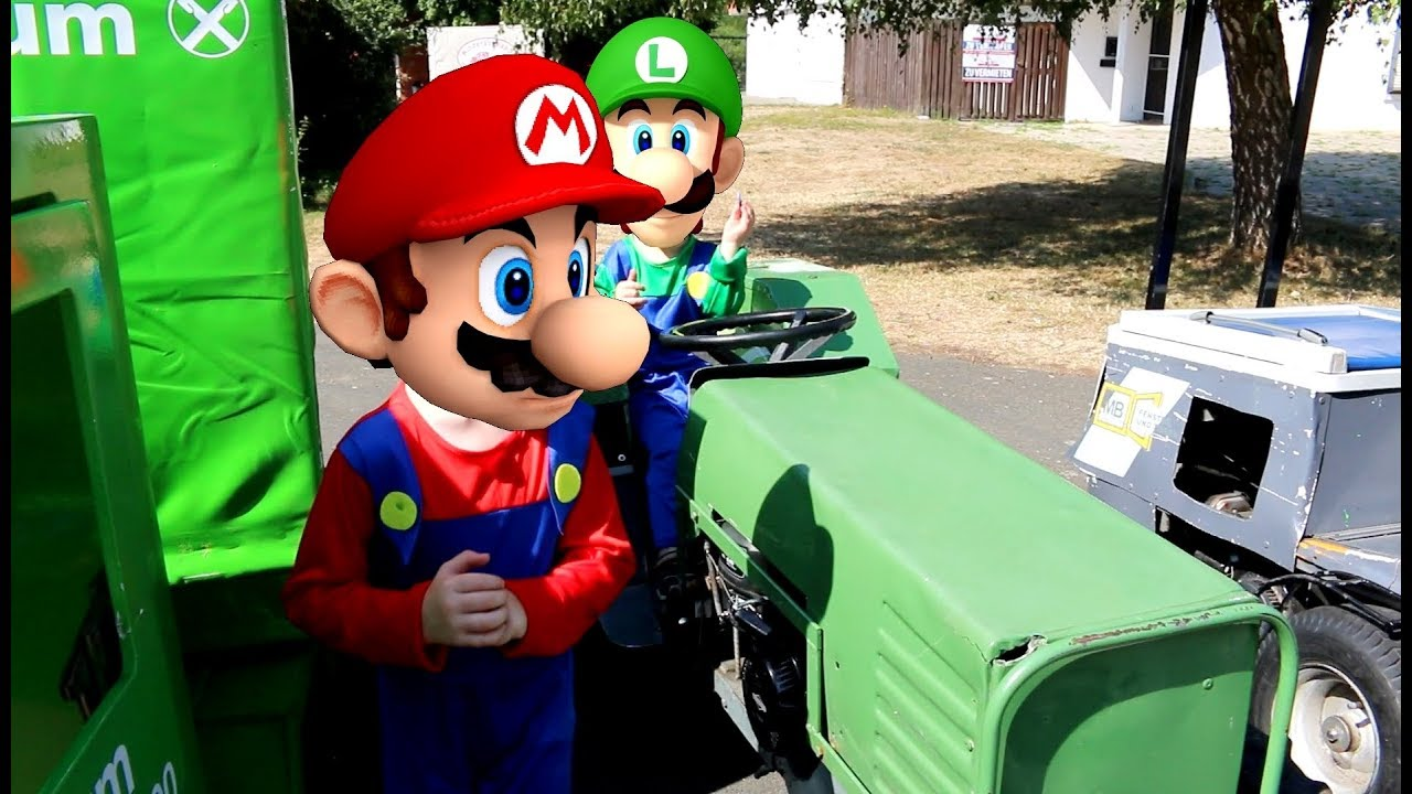 Traktor Cartoon Kids Movie About Tractor Mario Vs Luigi Youtube