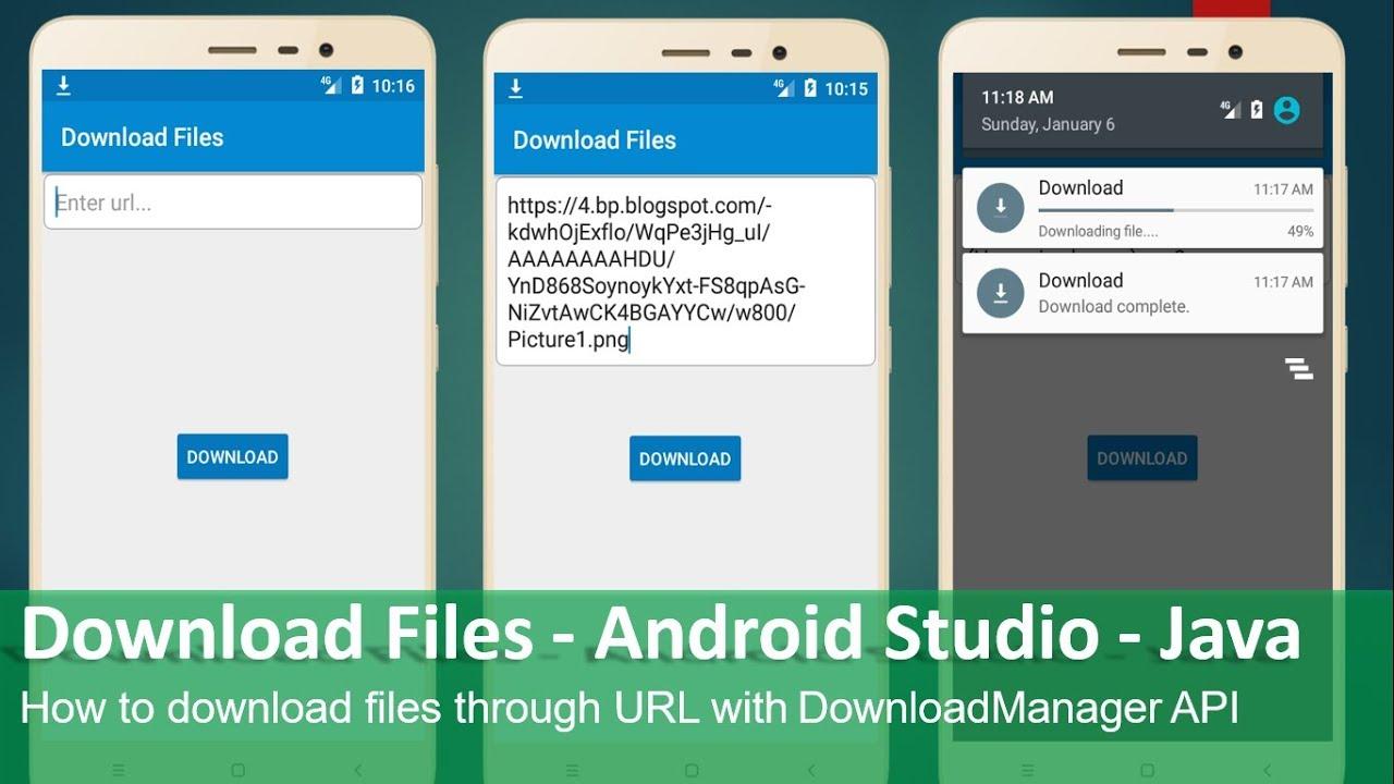 Download Files - Android Studio - Java