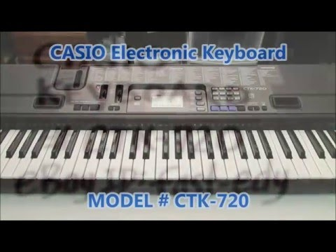 Casio Electronic Keyboard CTK-720 Test Functions (For Sale)