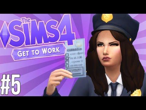 The Sims 4 На Работу #5 Ловим преступника