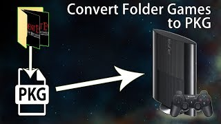 How to convert PS3 Game Folder to PKG - PKG Maker tool tutorial
