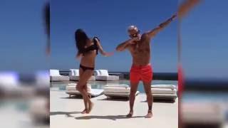 Итальянец 50-летний миллионер Джанлука Вакки и жена танцуют танец тигра | Gianluca Vacchi