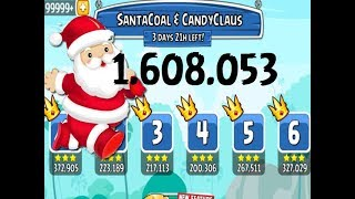 Angry Birds Friends Holidays 2017: Santa Coal & Candy Claus All Levels Week 291 A