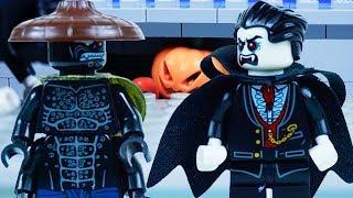 LEGO Ninjago STOP MOTION W/ Garmadon vs Dracula: Halloween Pranks | LEGO Ninjago | By Lego Worlds
