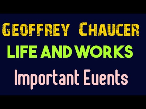 A Brief Introduction to Geoffrey Chaucer, His Works & Important Events in Hindi
