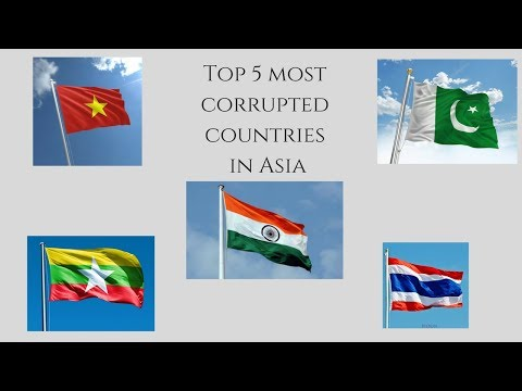 Top 5 corrupted countries in Asia according to Transparency International