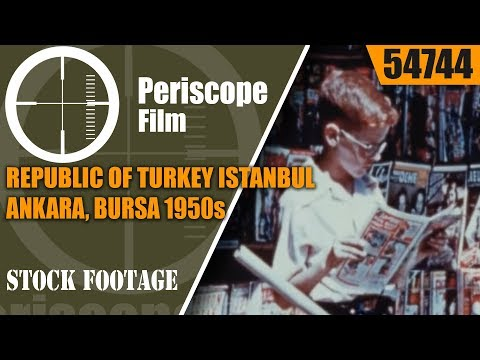 REPUBLIC OF TURKEY   ISTANBUL, ANKARA, BURSA  1950s TRAVELOGUE & HISTORY FILM 54744