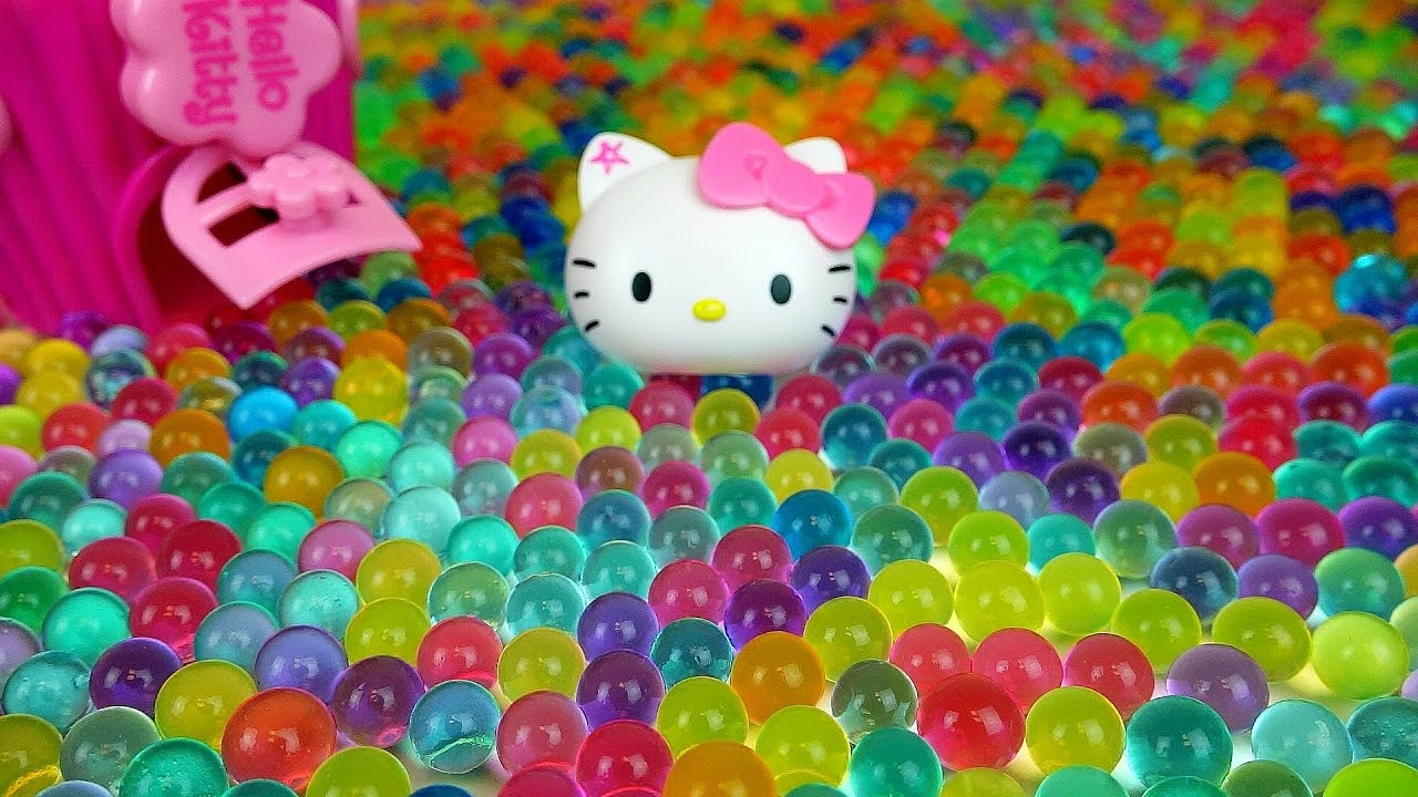 orbeez hello kitty kinder joy surprise egg dispenser toys with baby doll youtube. Black Bedroom Furniture Sets. Home Design Ideas