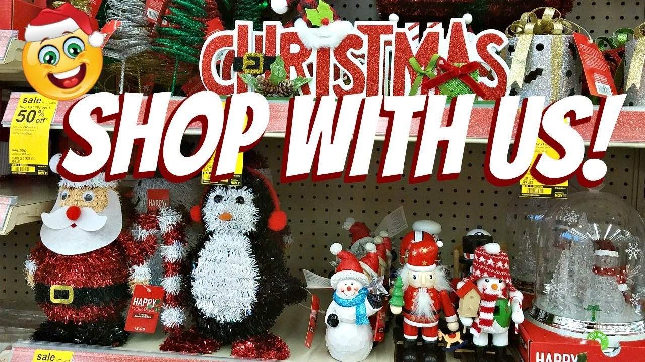 shop with me walgreens christmas decorations stocking stuffers 2017