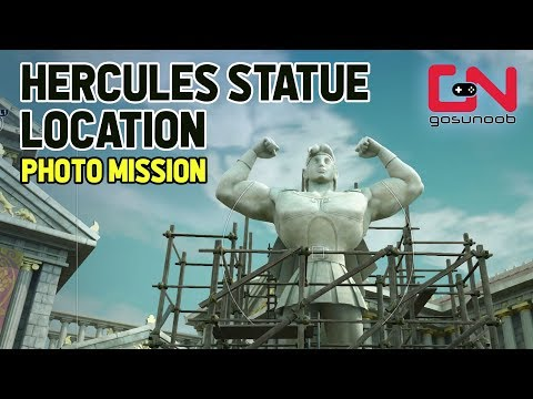 Kingdom Hearts 3 - Photo Mission - Hercules Statue Location
