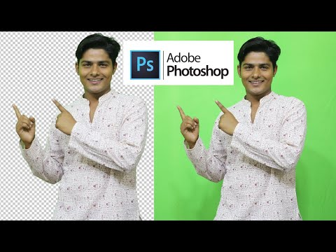 How to Remove Green Screen Background in Photoshop Tutorial thumbnail