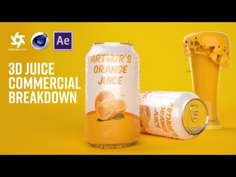 Cinema 4D Tutorial - Juice Commercial in Octane Render