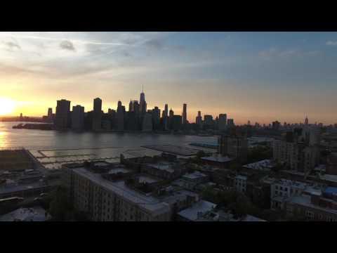 Phantom 4 dusk flight - Brooklyn NYC