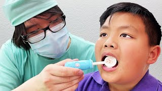 Alex Pretend Play Going to the Dentist for his Teeth Checkup | Kid Learns How to Keep Teeth Clean