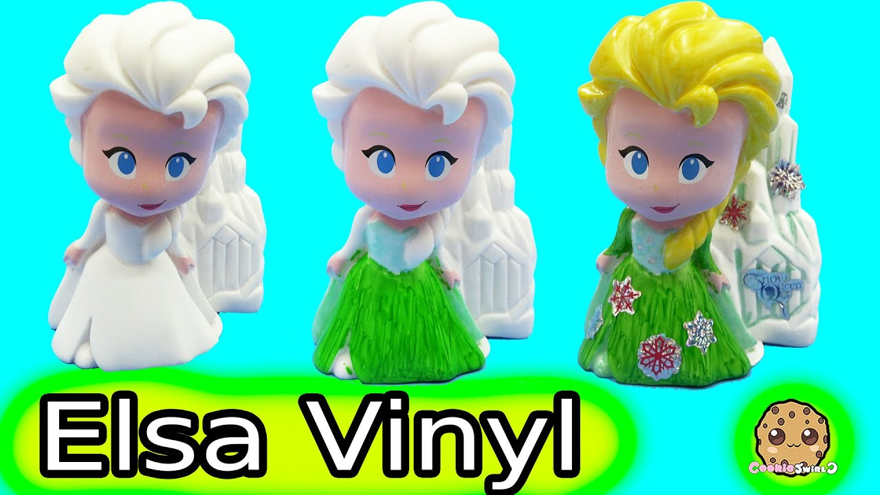 Color It Yourself Disney Frozen Fever Queen Elsa Design A Vinyl Doll ...
