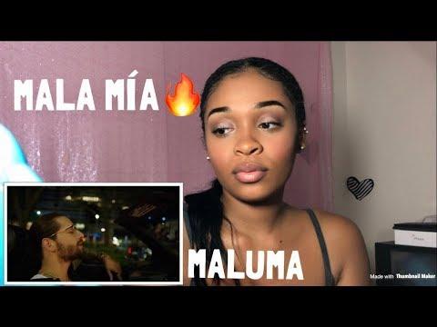 Maluma - Mala Mía (Official Video)   REACTION