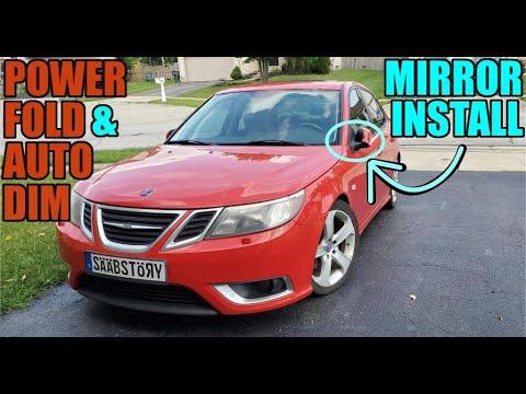 Installing Saab Power Fold & Auto Dim Mirrors