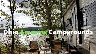 Five of Ohio Amażing Campgrounds #OhioStateParks #OhioCampgrounds #OhioCamping