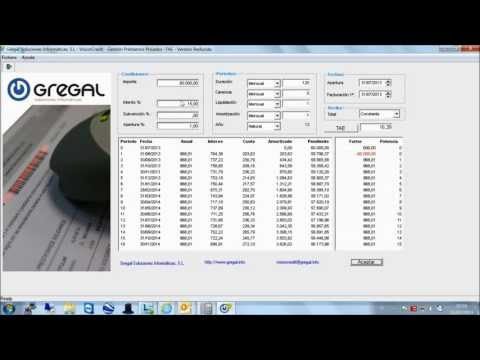 Simulador de préstamos y calculo de TAE- VisionCredit Gregal Entidades Financieras de YouTube · Alta definición · Duración:  1 minutos 35 segundos  · Más de 1000 vistas · cargado el 31/07/2013 · cargado por Jose Sorni