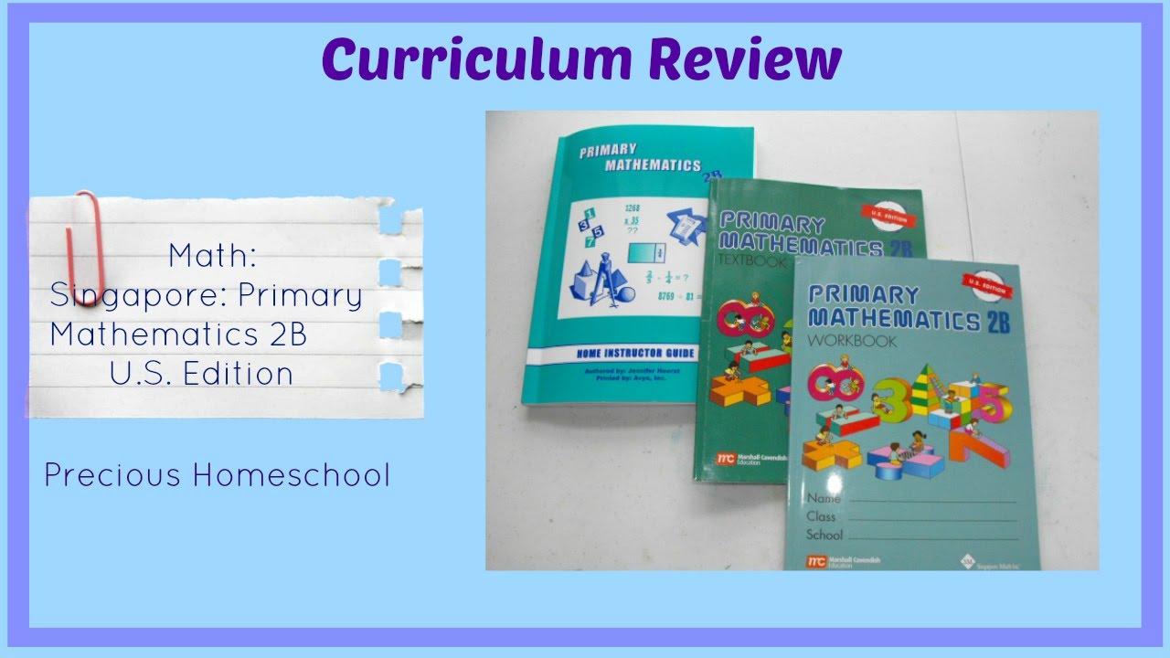 Workbooks primary mathematics workbook : Curriculum Review: Math: Singapore Primary Mathematics 2B - YouTube