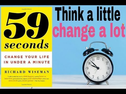 Think a Little, change a lot ( 59 seconds book summary in hindi )