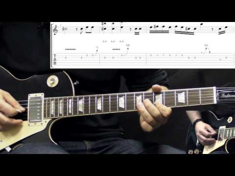 Gary Moore - Cold Day In Hell - Blues Guitar Lesson Part2 (w/Tabs)