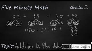 2nd Grade Math Addition by Place Value