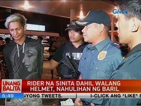UB: Rider na sinita dahil walang helmet, nahulihan ng baril