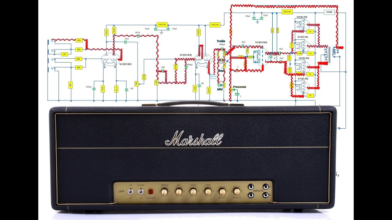 100 Amp Wiring Diagram How Does A Marshall Super Lead Amp Work Youtube