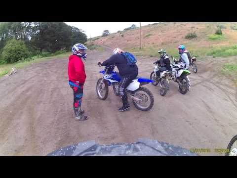 kx100 trail riding