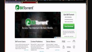 how to download movies music software etc for free using bit torrent p2p filesharing