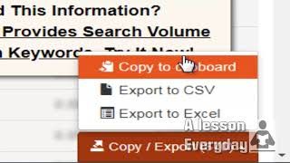 Seo (part3)How to export keywords to an excel file, cvs,clipart from a keyword seo tool
