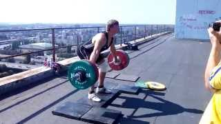 Dmitry Lapikov Weightlifting Over The Sky